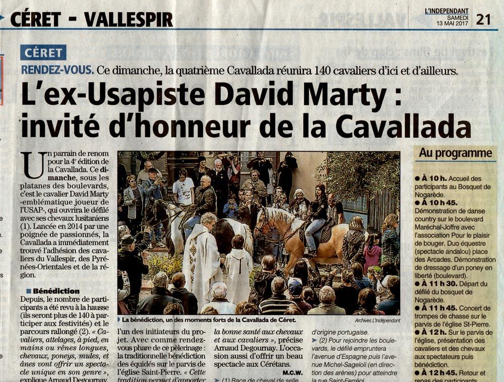 La Cavallada reçoit David Marty - Journal l'independant